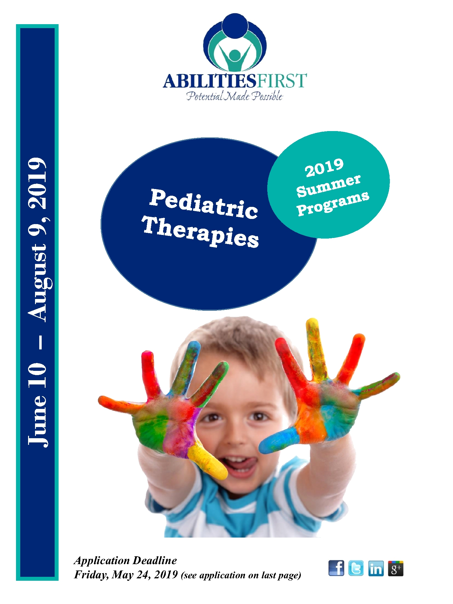 2019 Summer Programs Pediatric Therapies